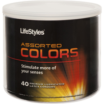 Lifestyles Assorted Colors 40pc Bowl
