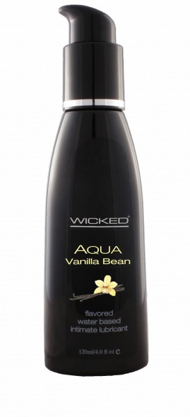 Wicked Aqua Vanilla Bean Lube 4 Oz